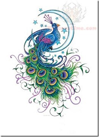 moon-and-peacock-tattoo-design